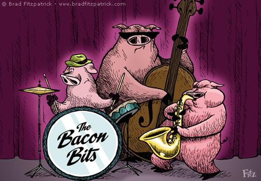 Cartoon Jazz Band Pig Jazz Band 011